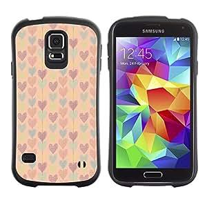 ArtSpace Premium Hybrid Back Case Cover Samsung Galaxy S5 V SM-G900 ( Cute Hearts )