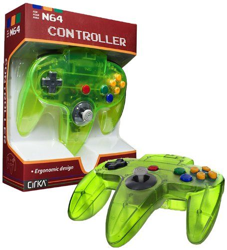 CirKa Controller for N64 (Cyanine/ Jungle) (Assassins Creed 2 Costume)