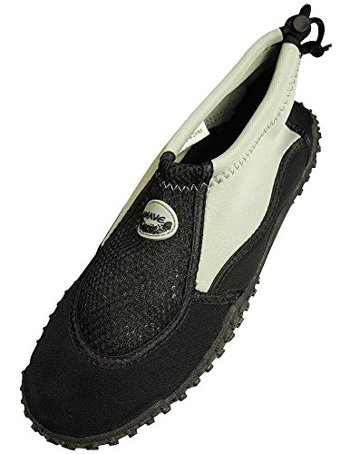The Wave - Mens Aqua Shoe, Grey, Black 37130-9D(M)US
