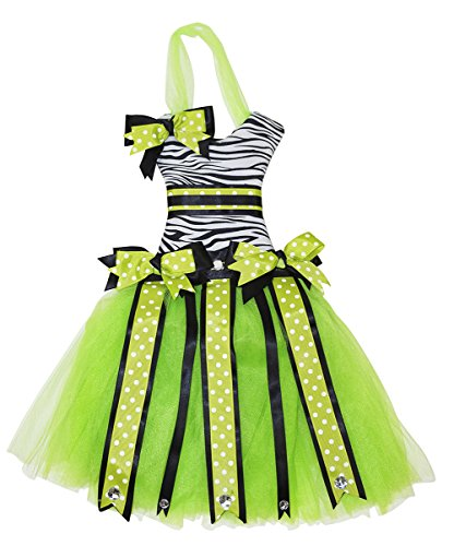 Price comparison product image Tutu Dress Hair Bow Holder - Green Zebra