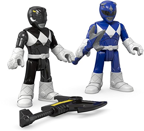 (Fisher-Price Imaginext Power Rangers Blue Ranger & Black Ranger)