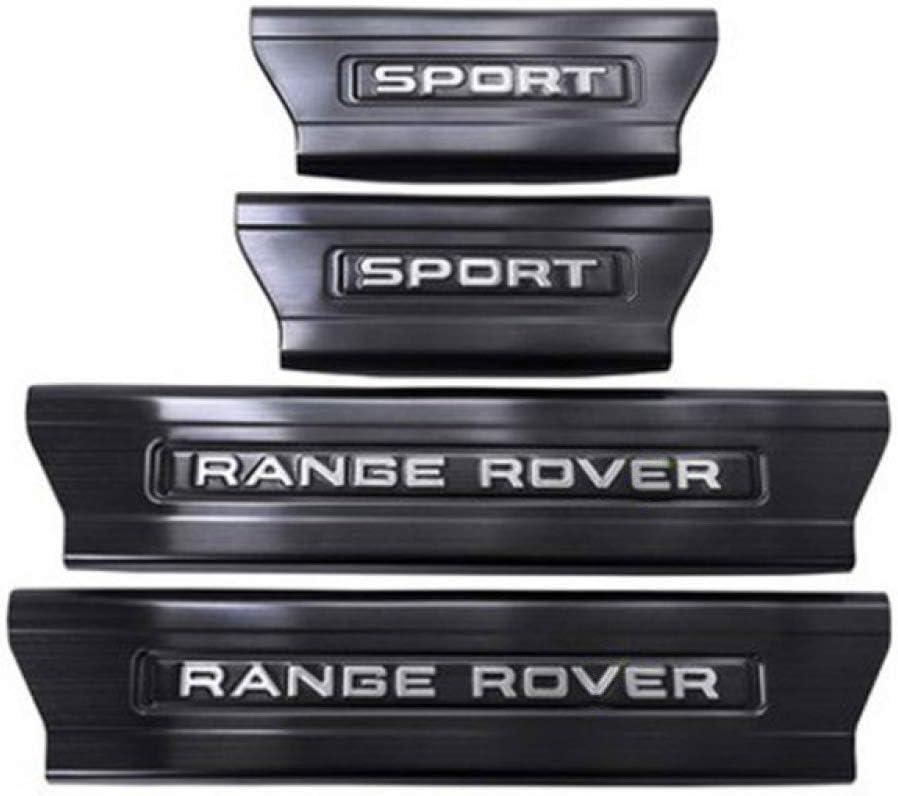 N//A 4 Pezzi protettore per davanzale portiera per Auto per Range Rover Sport 2014-2019 Rivestimento della soglia del Pedale di sfregamento Coperchio di Protezione Piastra Ticker Accessori