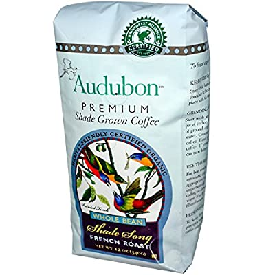 Audubon Premium Coffee, Organic Whole Bean French Roast, 12 oz