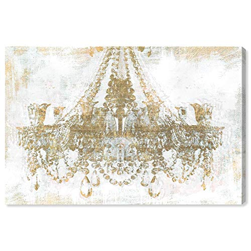 Gold Diamond Chandelier - The Oliver Gal Artist Co. Fashion and Glam Wall Art Canvas Prints 'Gold Diamonds' Home Décor, 36