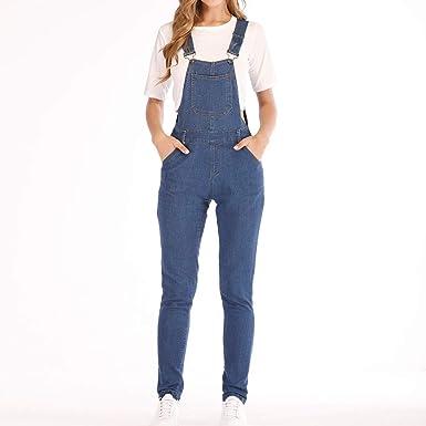50af6df2b7a237 Ansenesna Jumpsuit Elegant Lang Eng Jeans Damen Overall Mädchen Hosen  Schwarz