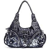 Angel Barcelo Purses and Handbags for Women Ladies'Shoulder Bag Designer Tie Dye Satchel Fashion Totes for Gril (11282Z black)