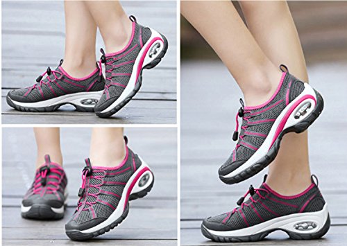Women's Hiking Black Stretchy Mountaineer Wearable Leisure Anti Breathability Shoes Sports Slip Shoes Running rq7rz