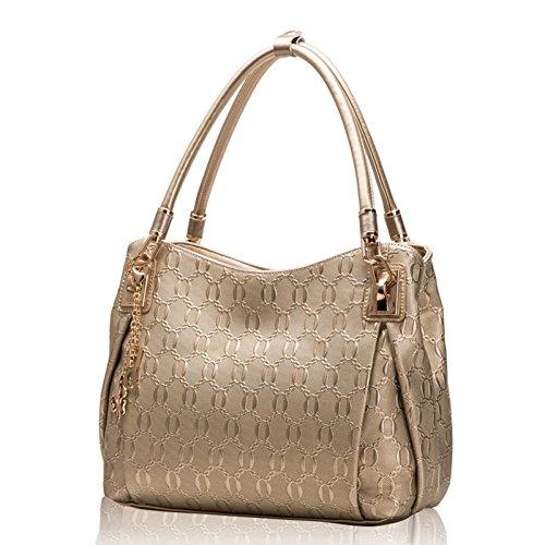 L'oro Di Forma Bag Negli Elegante Europa A V Spalla Uniti Tendenza Tasche Pelle Stati Borse Retro Signore Casuale E Grandi Cerniera Moda wqCFBW6xS
