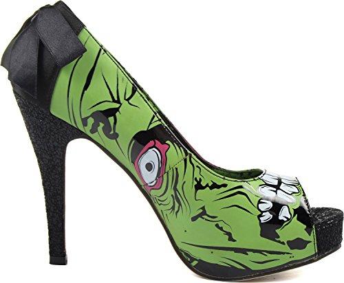 Color B Iron Size Platform Shoes Womens Stomper 9 US Womens Zombie M Green Fist 8cwq8W7Ff