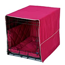 Pet Dreams Classic Cratewear Set Burgundy Fits 36-Inch Crates, 3-Piece