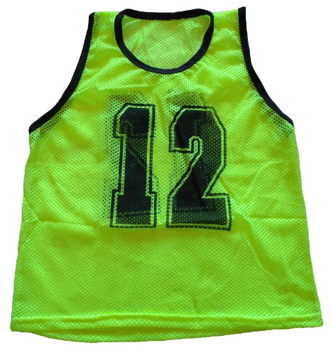Workoutz Numbered Youth Yellow Scrimmage Vest Set  Soccer Pi