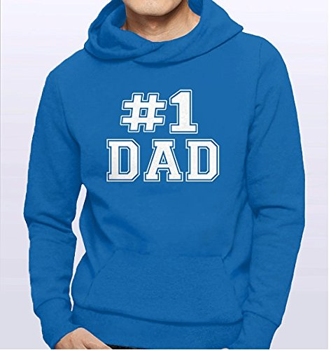 #1 Dad Hoodie | Number One Dad Sweatshirt | Sports Dad Gift for New Dad | Dad Present | Birthday Gift for Dad Clothing | Best Dad Ever | S-5XL