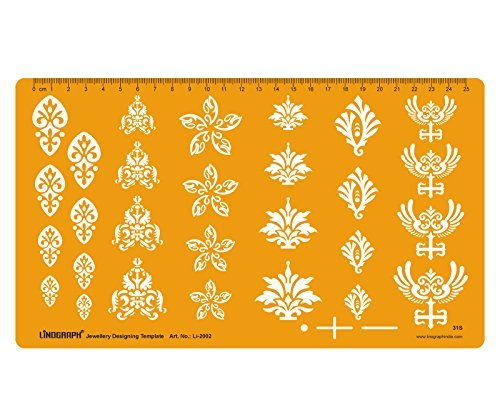 Jewellery Designing Template Art & Craft Floral Design Template Stencil Symbols Technical Drafting Drawing Scale