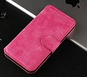 2015 Fashion Unique Special Vintage PU Leather Flip Case Cover With Card Holder for IPhone 6 Plus 5.5'' , Rose