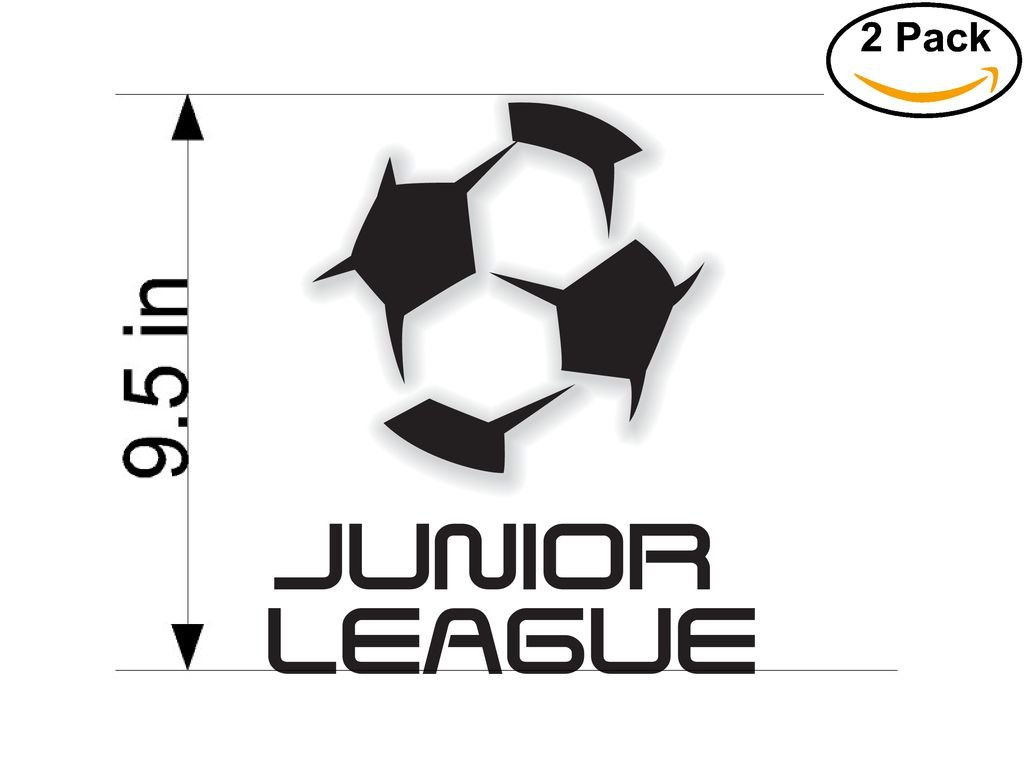 Junior League Italy Soccer Football Club FC 2 Stickers Car Bumper Window Sticker Decal Huge 9.5 inches