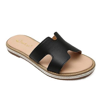 b9dfe6d7e6eb1 Amazon.com: Women Flat Casual Shoes Flip Flog H Sliders Ladies ...