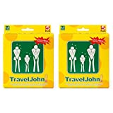 Travel John Disposable Vomit/Urine Combo Bag for Adults and Children - Portable 2 in 1 Urinal and Sickness Bags for Traveling, Pregnancy, Illness - Odorless, Hygienic, Non-Toxic (2 Pack/10 Bags) (2)
