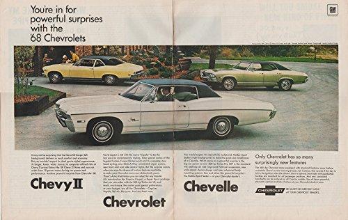 1968 CHEVROLET IMPALA, CHEVY II NOVA & CHEVELLE MALIBU