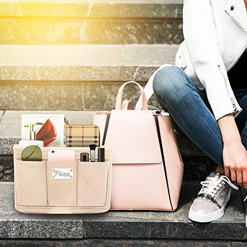Pursi Handbag Purse Organizer Insert - Felt Fabric Multi Compartment Design by Pursi (Image #2)