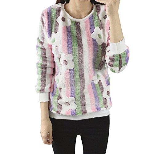 Allouli Mujeres sudadera con capucha Corallo Velluto imprimir sudaderas con capucha primavera oto?o manga larga casual sudaderas Color26