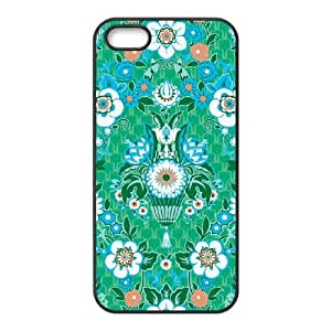 Garden Fete Minty iPhone 5 5s Cell Phone Case Black NiceGift pjz0035124908