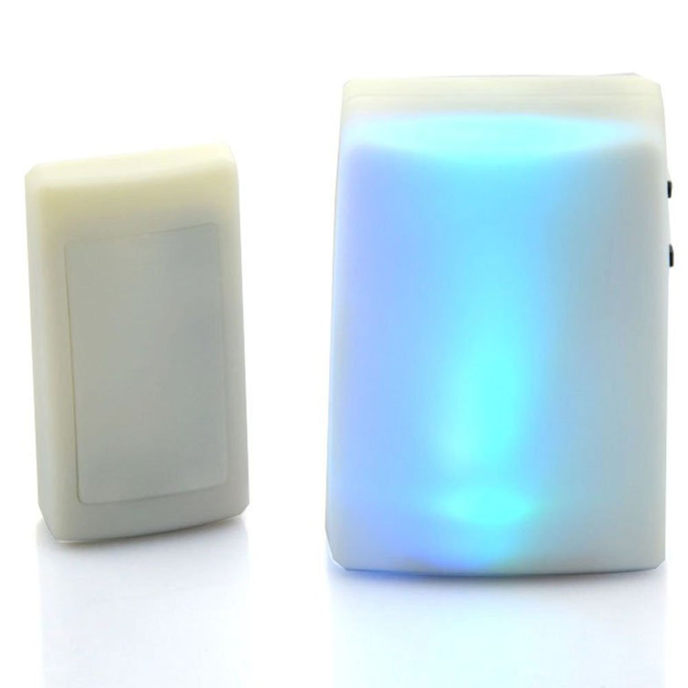 Anpress 7 Color Lights Flash Music Doorbell Wireless Electrical Wiring In The Home Deaf Doorbells Hard Of Hearing Favorite Can Be Changed
