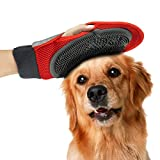 VEEJOY Pet Grooming Glove - 2 in 1 Efficient Pet Hair Remover Mitt for Furniture - Gentle Deshedding Brush - Soft Rubber Tips for Massage - Perfect for Dogs & Cats with Long & Short Fur