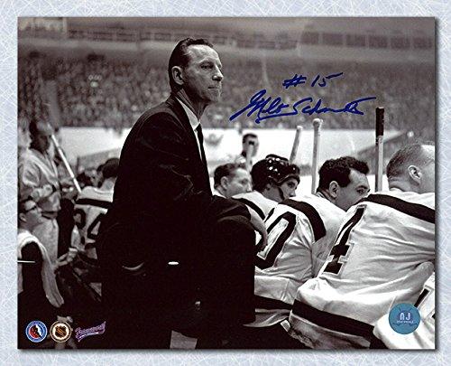 AJ Sports World Milt Schmidt Boston Bruins Autographed Coach 8x10 Photo