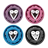 Earbuds Earphones Holder Case 4 Pack, MAIRUI Silicone Magnetic Earphones Cord Organizer Headphones Storage Case Tangle-Free Earbuds Wrap Cable Winder for Apple iPhone/Samsung/Sony Earphones(4 Pack)