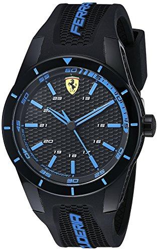 Ferrari-Mens-0830247-REDREV-Analog-Display-Japanese-Quartz-Black-Watch