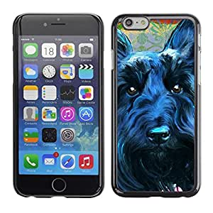 TopCaseStore / la caja del caucho duro de la cubierta de protección de la piel - Scottish Terrier Black Dog Canine Pet - Apple iPhone 6