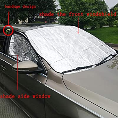 Protect Car Interior UV and Heat Image ID: 13534683 Abstract Block Sun Glare MSD Car Sun Shade Windshield Sunshade Universal Fit 2 Pack
