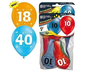 10 Globos de colores con el número: 20//del Envío: 80 cm//de ...