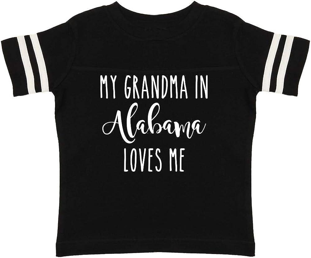 Toddler//Kids Sporty T-Shirt My Grandma in Alabama Loves Me