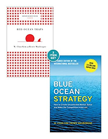"""Blue Ocean Strategy with Harvard Business Review Classic Article """"Red Ocean Traps"""" (2 Books) (Blue Ocean Strategy)"""