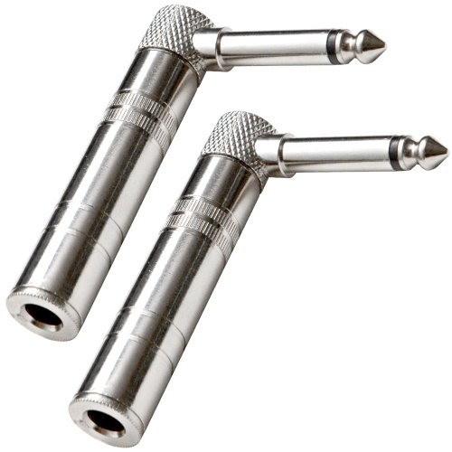 Seismic Audio - SAPT61 - (2 Pack) Right Angle Guitar Cable Adapters 1/4 - Connector End