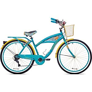 "26"" Women's Margaritaville Multi Speed Front and Rear Alloy Sidepull Handbrakes Cruiser Bike"