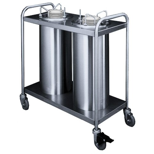 Mobile Lowerator Dispensers Two Tubes - APW Wyott Lowerator Trendline Mobile Two Tubes Unheated Dish Dispenser, 6 5/8 to 7 1/4 inch China Size -- 1 each.