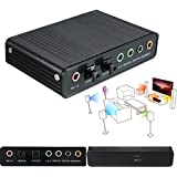 USB 5.1 Channel External Optical Audio Sound Card Adapter for Laptop Notebook PC