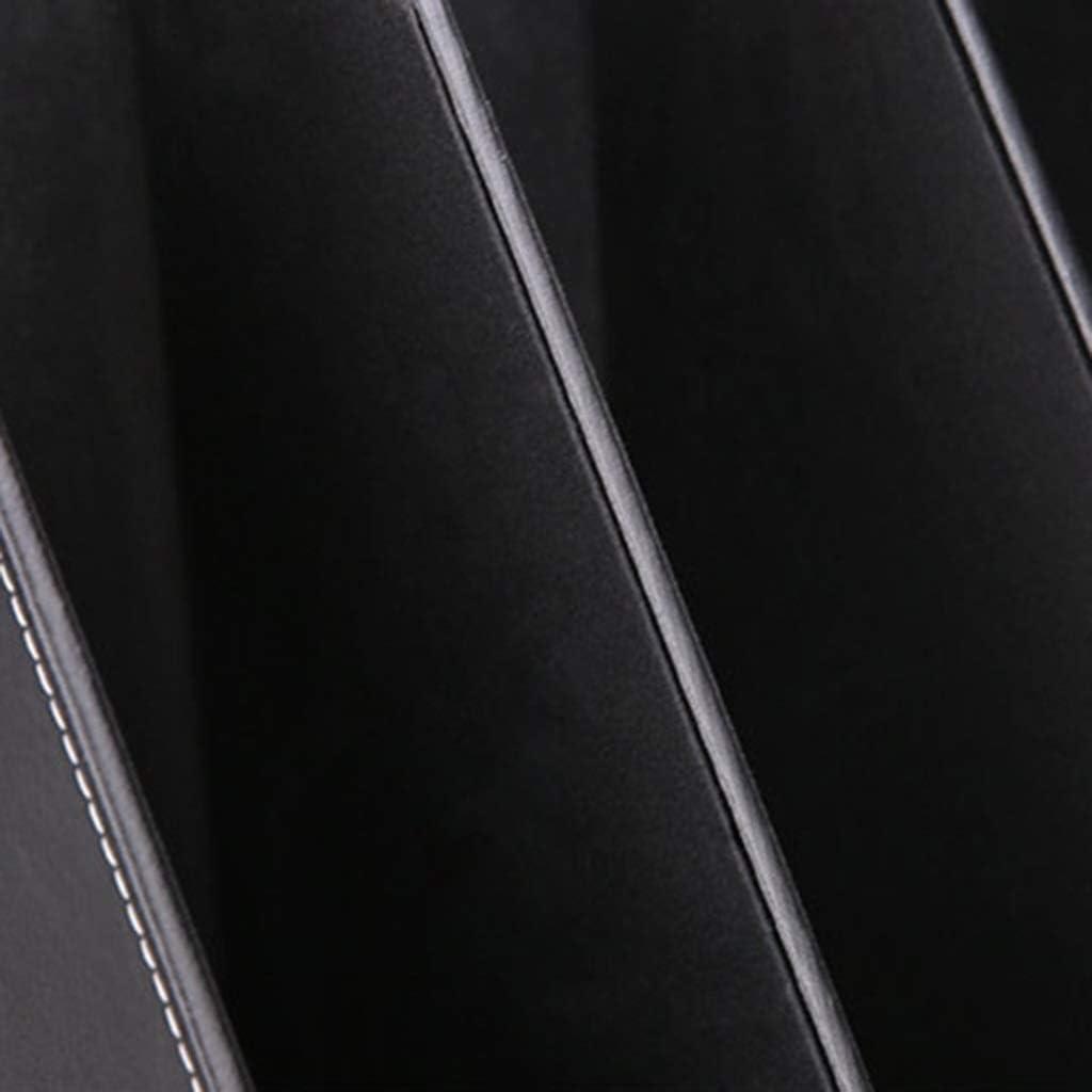 EAHKGmh Organizzatore di File Portadocumenti Nero Scatola for scrivania Scrivania Portariviste da scrivania in Pelle a 3 Slot Portaoggetti for Ufficio in Ufficio for Documenti Libro