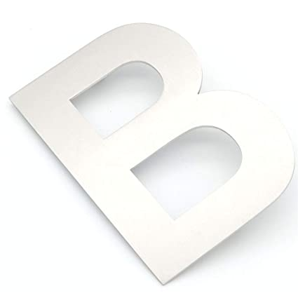 NUZAMAS Door Capital Letter B Number Plaques, Stainless ...