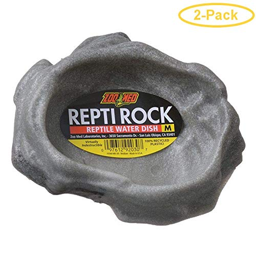 Reptile Rock Water Dish [Set of 2] Size: Medium (6' H x 5.5' W x 5.5'' L) by Zoo Med