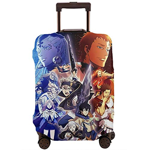 Anime Black Clover Travel Luggage Cover Suitcase Protector Washable Baggage Luggage Covers Zipper Fits 26-28 Inch