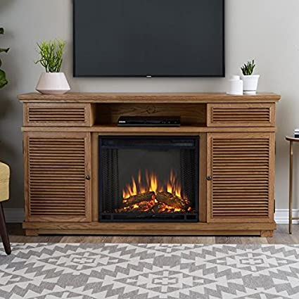 Awesome Real Flame Cavallo Fireplace Tv Stand In Elm Home Remodeling Inspirations Genioncuboardxyz