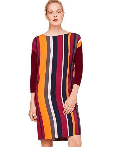 c2a175fc9a6ce8 Benetton VAGODA Kleider Damen Bordeaux Multifarben - L - Kurze Kleider