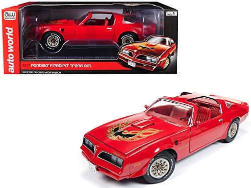 (1977 Pontiac Firebird Trans Am Buccaneer Red Limited Edition to 1,002 Pieces Worldwide 1/18 Diecast Model Car by Autoworld AMM1160 )