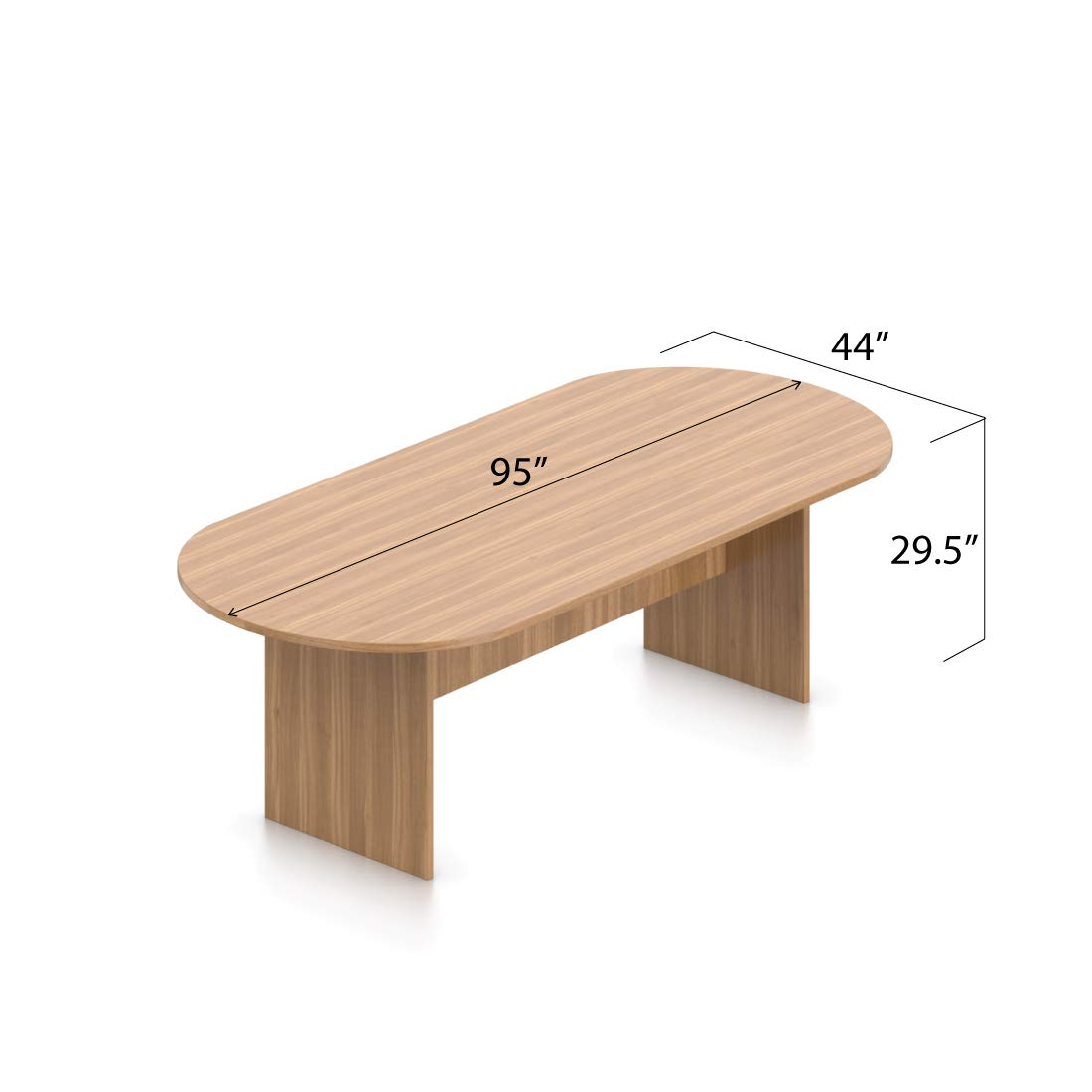 GOF 8 FT Conference Table (95W x 44D x 29.5H), Cherry, Espresso, Mahogany, Walnut (Walnut)