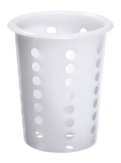 Estuche cubiertos, plástico, plástico blanco, 14,5 cm Altura ...