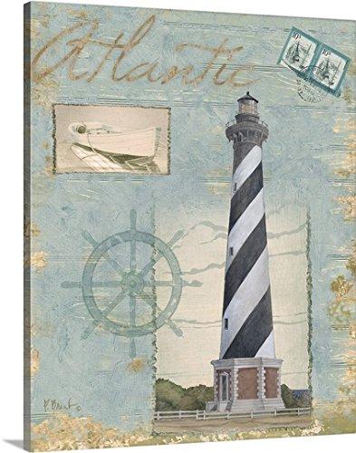 Paul Brent Premium Thick Wrap Canvas Wall Art Print Entitled Seacoast Lighthouse I