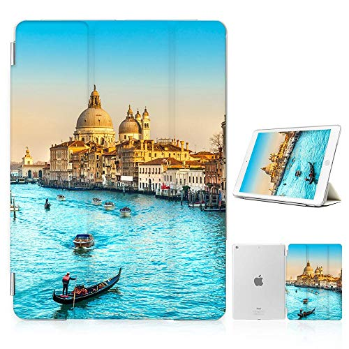 for iPad 5 5th Generaton, iPad 6 6th Generation, iPad 9.7 inch 2017 2018 Version, Designed Smart Case Cover, SMART40158 Italy Venice River 40158